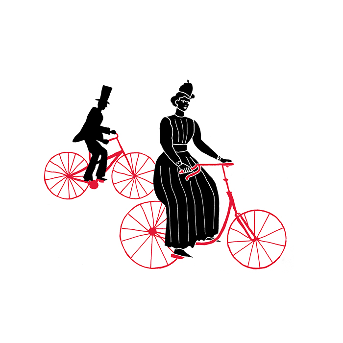 bicycle silhouette icon